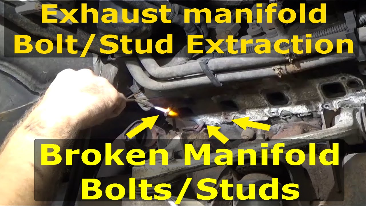 Dodge Dakota 2012 >> Exhaust manifold Broken Bolt extraction Dodge Hemi - YouTube