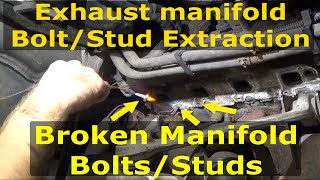 Exhaust manifold Broken Bolt extraction Dodge Hemi