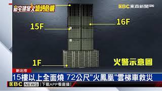豪宅工地15樓以上陷火海 9雲梯車灌救