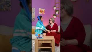 TIKTOK GIRLS TESTING VIRAL HACKS ON MOM AND GRANDMA 👩🆚👵    #SHORTS