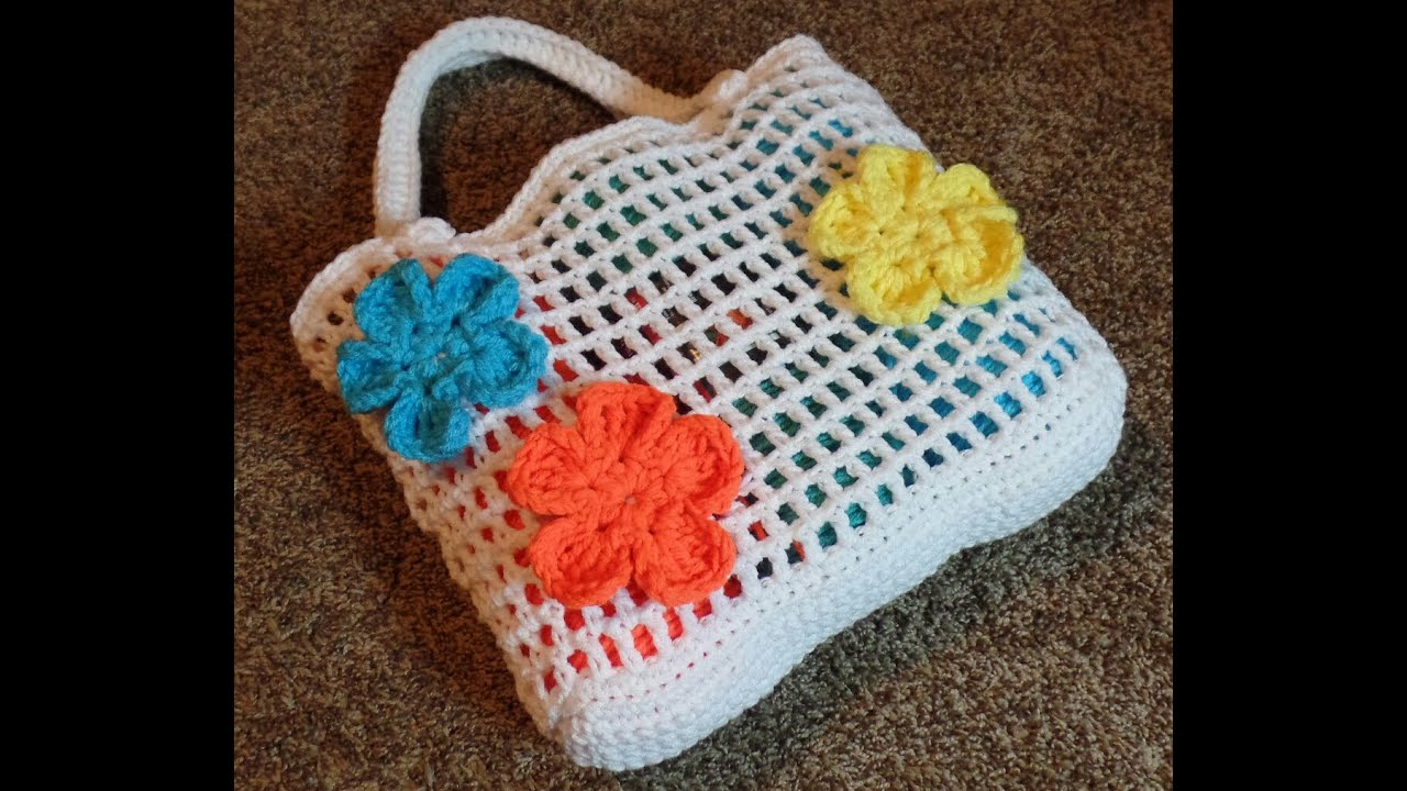 CROCHET How To #Crochet Summer Beach Bag #TUTORIAL #238 LEARN ...