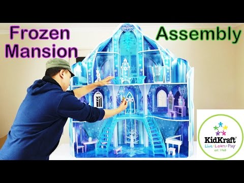 DISNEY FROZEN SNOWFLAKE MANSION DOLL HOUSE ASSEMBLY DIY 'HOW TO'