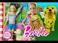 default - Barbie Newborn Pups Doll & Pets Playset, Blonde