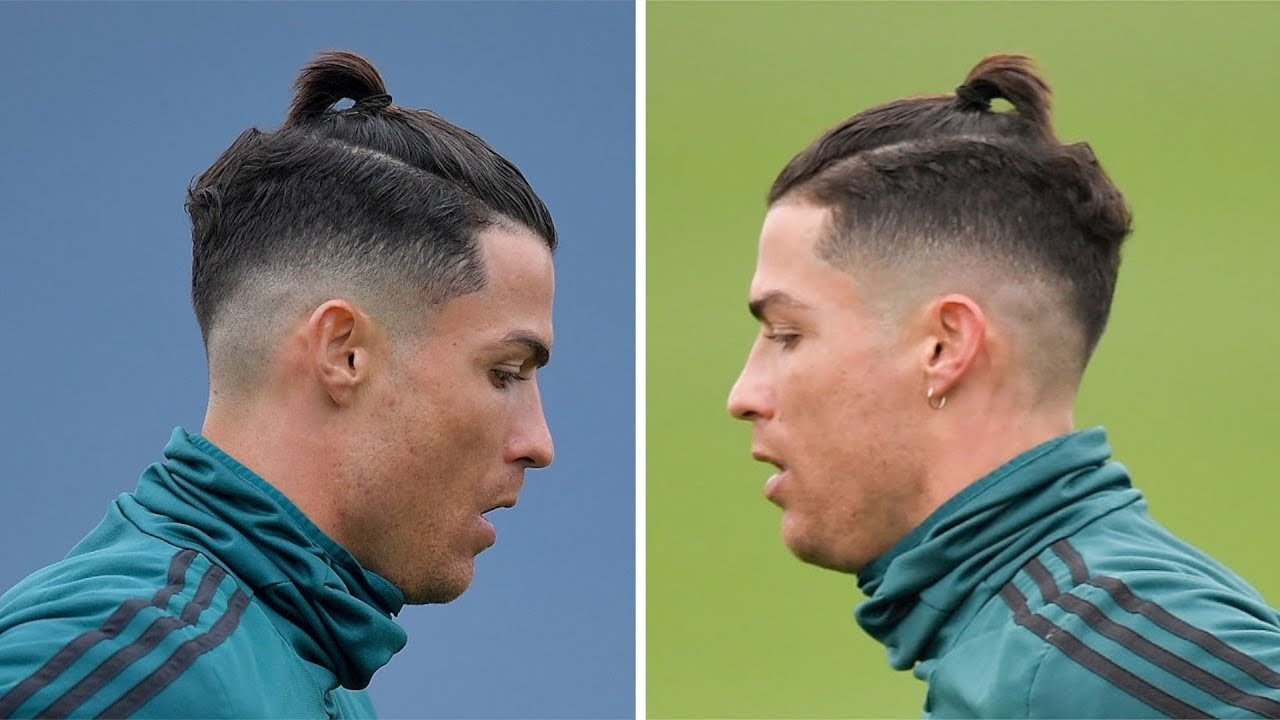 Cristiano Ronaldo Back To Training With New Hairstyle Youtube