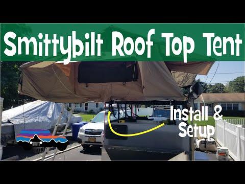 smittybilt-xl-overlander-roof-top-tent-setup-&-install