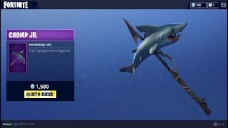 Chomp JR. - NEW Fortnite Shark Pickaxe Skin and Epic Harvesting Tool
