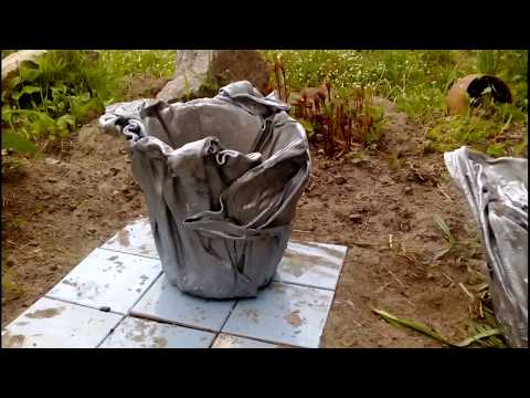 Горшки для сада из цемента своими руками
