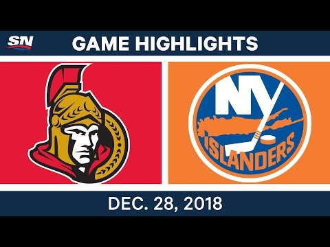 NHL Highlights | Senators vs. Islanders - Dec 28, 2018