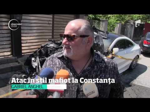 Reglare de conturi în stil mafiot la Constanţa. O limuzină a fost incendiată chiar în faţa cas