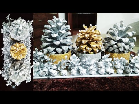 DIY Pine Cone Flower Craft//Home Decoration Craft From Waste Materials