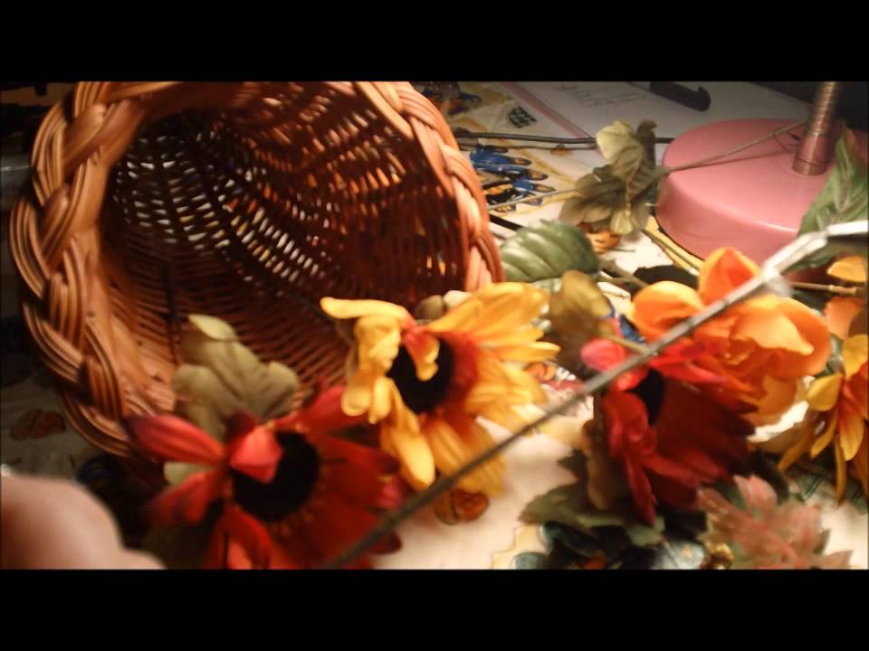 Thanksgiving Project 3 How To Make A Floral Cornucopia Youtube