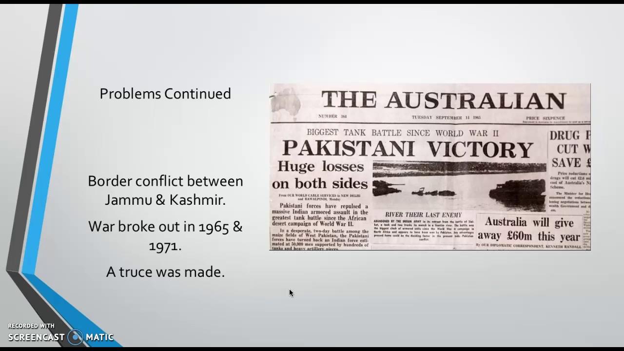 India Pakistan A Messy Divorce