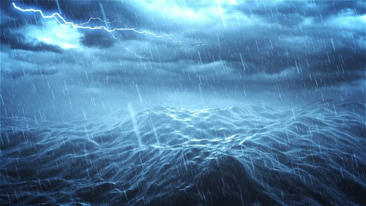 Extreme Thunderstorm At Sea Sounds Of Nature Blizzard Rough Ocean Waves Lightning Ambience