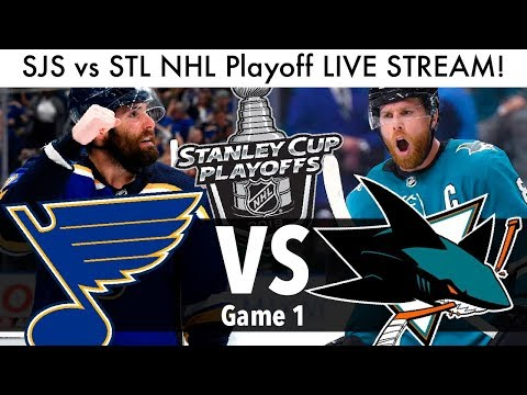 Sharks Vs Blues NHL Playoff Game 1 LIVE STREAM! (Round 3 Stanley Cup Series SJS/STL Reaction)