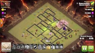 Clash of Clans TH9 GoVa 3 STAR ATTACK