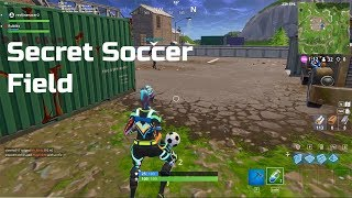 SECRET Soccer Field in The Shipyard - Fortnite Battle Royale