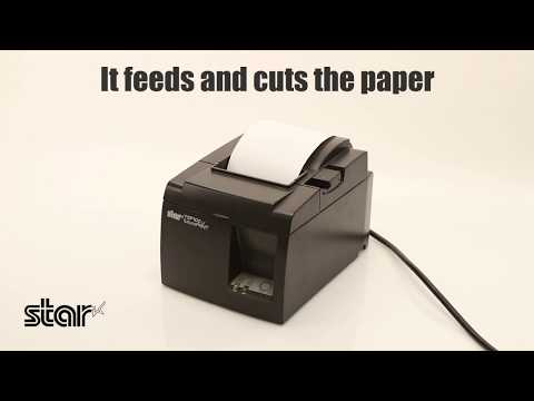 Loading paper into a Star Micronics thermal printer