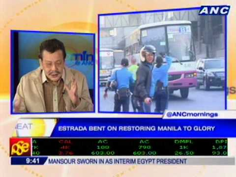 Manila Mayor Joseph Estrada on Mornings at ANC