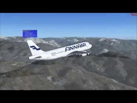 Microsoft Flight Simulator X - Finnair Airbus A320 flight from LFMN to EFHK