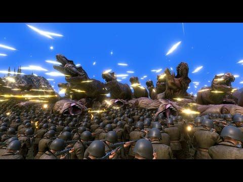 60.000 WW2 U.S. SOLDIERS vs 10.000 T-REX - Ultimate Epic Battle Simulator