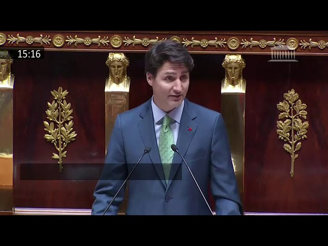 Justin Trudeau became the first Canadian prime minister to address the French National Assembly and delivered a message of inclusive economic growth, progressive trade and gender parity. Here is an excerpt of the speech. (The Canadian Press)