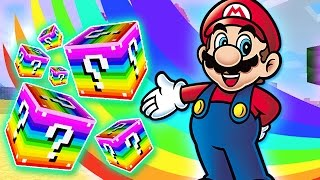 LUCKY RAINBOW BLOCKS MARIO 64 CASTLE MOD CHALLENGE - MINECRAFT MODDED MINI-GAME!