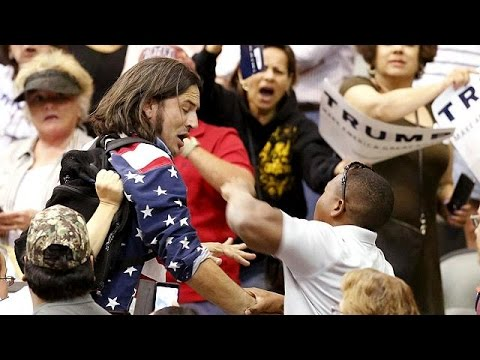 Another Donald Trump rally, another protest turns violent