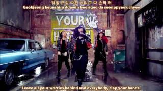 2NE1 ~ 박수쳐 (Clap Your Hands) {Korean, English, Rom Sub}