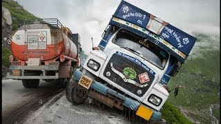 Worlds Most Dangerous Truck Accident || 15 Trucks In A Row.