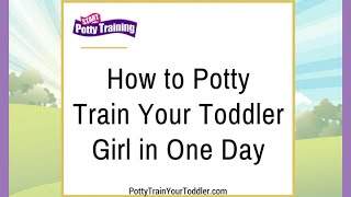 How to Potty Train Your Toddler Girl in One Day