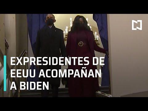 Expresidentes de EEUU, llegan a toma de posesión de Joe Biden - Las Noticias