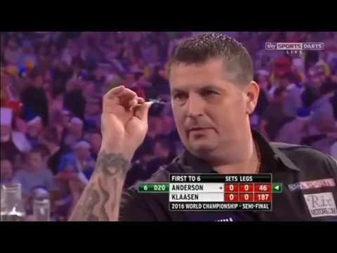 2016 World Darts Championship Semi Final Anderson vs Klaasen