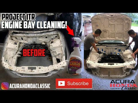 Acura Honda Classic Integra Type R Build Project: DIY Engine Bay Cleaning - Episode 6