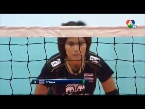 วอลเลย์บอลหญิงไทย vs ไต้หวัน set 1 5 AVC CUP 2014