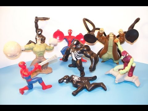 2009-the-spectacular-spiderman-animated-series-set-of-8-mcdonlad's-happy-meal-toy's-video-review