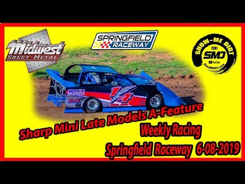 S03-E287 Sharp Mini Late Models A-Feature Springfield Raceway 6-08-2019 #DirtTrackRacing