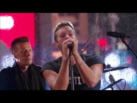 U2 with Guest Chris Martin  With or Without You   from Time Square 2014
