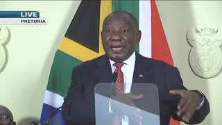 President Cyril Ramaphosa and Nhlanhla Nene answer questions from media on #stimuluspackage