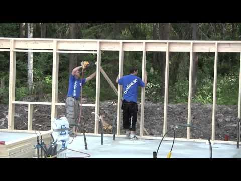 Как шведы строят каркасный дом на плите