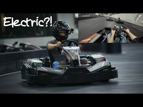Electric Go Kart race at eKart Ghent - POV Video