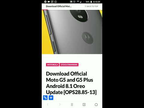 Moto G5 Plus Get Oreo Update Within Minute Official