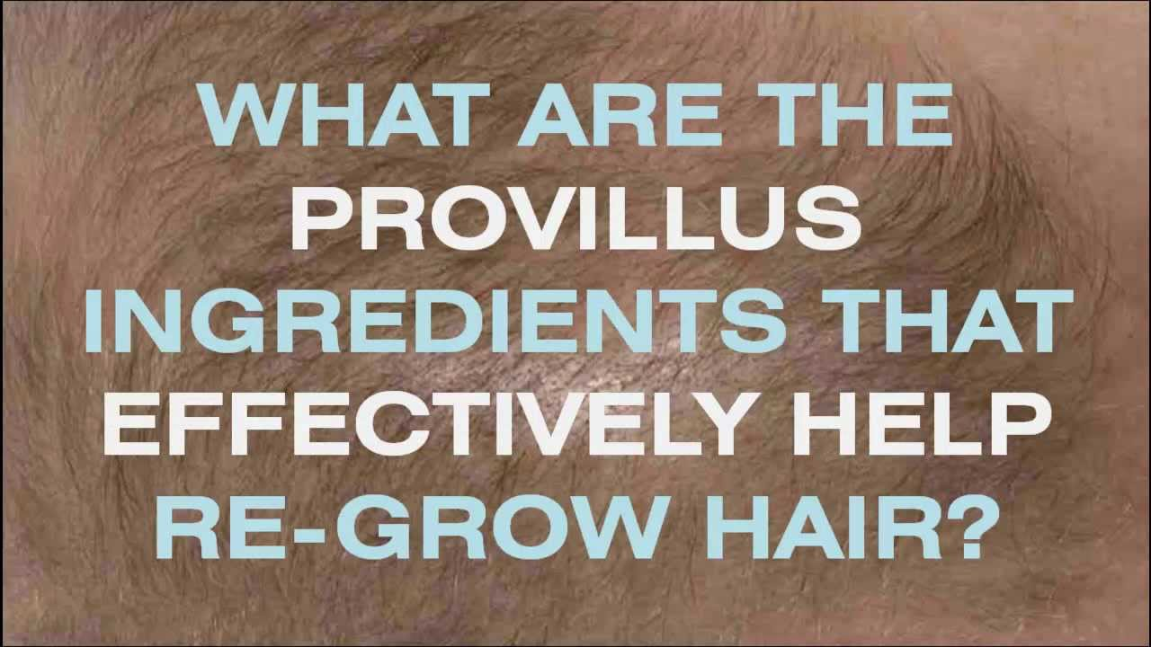 Provillus Ingredients Provillus Ingredients List For Men And