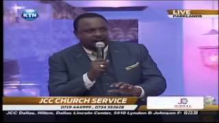 JCC church service in attendance : Churchill, Eric Omondi, Mwalimu King'ang'i