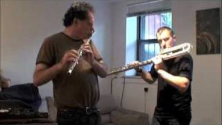 Robert Dick and Greg Pattillo - Basement Improvisation Jam!