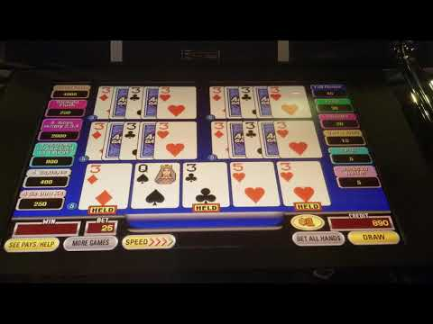 HIGH LIMIT 5 Play VIDEO POKER Double Double Bonus