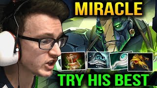 Miracle is Trying so Hard for This Game with Earth Spirit Dota 2 7.10