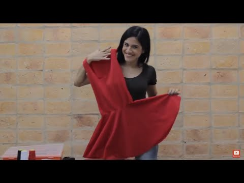 DIY Amazing red dress in just a few steps