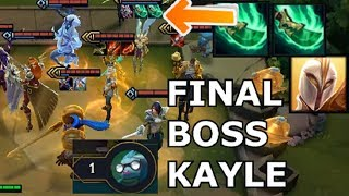 CLUTCH 1 HP AGAINST 6 NOBLE + OP KAYLE + RANGERS COMP - Teamfight Tactics RANKED TFT Strategy Build