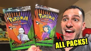 OPENING ALL OF MY POKEMON CARDS GYM CHALLENGE BOOSTER PACKS!