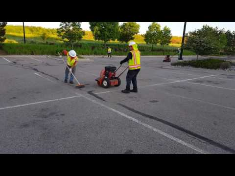 Cleaning parking lot